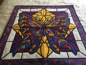 Stained Glass Butterfly Wallhanging