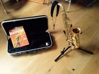 Saxophone for sale - Stand, reeds, neck strap and beginners book included