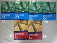 Edexcel A-Level Maths textbooks (prices in description)