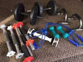 @MIXTURE OF FITNESS ITEMS, ALL ITEMS FOR £15@