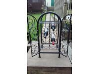 cast iron wine rack with locking door
