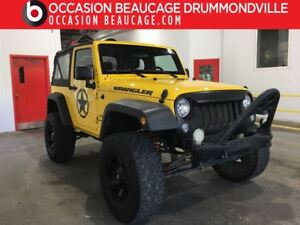2015 Jeep Wrangler SPORT 4X4 - MANUEL - HITCH + MAGS!