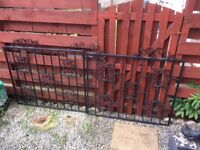 Wrought Iron Driveway Gates. Handmade by local Blacksmith