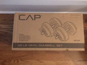 Brand new 40lbs dumbell set