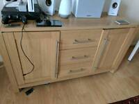 Drawer (beech colour) and TV table