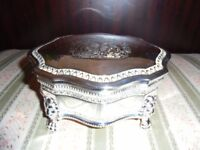 Royal silver jewellery box in ideal condition.