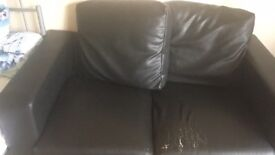 Leather two seats sofa