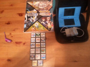 DS system, Charger, Pokemon book, Case, 17 games ~ Varied prices
