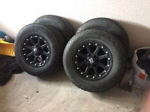 """18"""" XD Series Addict Rims and Nitto Terra Grappler tires"""