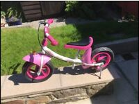 Toddler balance bike and helmet