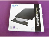 SAMSUNG ULTRA THIN DVD WRITER. BOXED FOR CD/DVD ETC