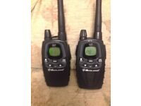 Midland G7 XT PMR446 licence free walkie talkie two way radio x2