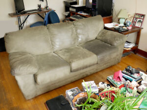 Large Microfiber Sofa in Good Condition