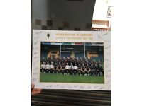 Signed Worcester Warriors squad photo 05/06