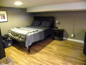 Large Bsmt Bachelor apart, Sep. entrance, One Bus To Downtown