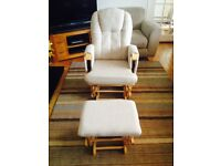 Cosatto reclining nursing chair and stool