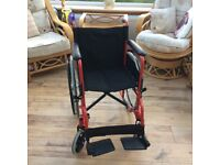 Collapsable wheelchair (black and red)