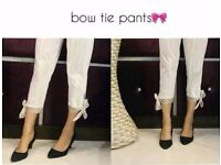 asian pakistani bow tie pants in 3 colors