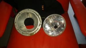 Front headlight/ bracket, brand new mirrors,pair spots