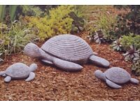 3-Piece Garden Resin Turtle Set - Mum and 2 Babies