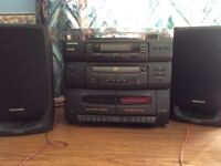 Recorder player, CD, radio and tape facility. Samsung excellent condition.