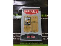 SONICKA M1 PLUS - DUAL SIM MOBILE PHONE - UNLOCKED TO ALL NETWORKS