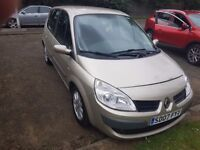 07 plate Renault scenic dynamic mot one year 74000 miles