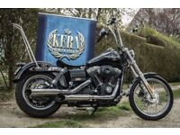 Kern slip-on exhaust for Harley-Davidson Dyna model from 1999, stainless steel, 117dB, deaf proof