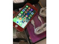 I phone 6 64 Gb Unlocked red white edition free charger