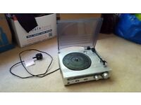 Bush portable turntable/record player and radio