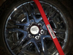 20 inch Cooper Tires and chrome rims