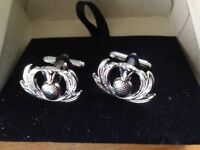 Heritage Scotland Thistle cuff links . Brand new in box .