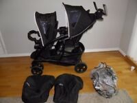 Graco Double Tandem Pushchair in Black