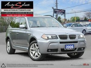2006 BMW X3 xDrive AWD **M SPORT PKG** ONLY 216K! **PANORAMIC...