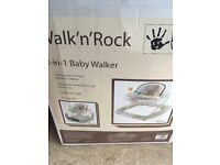 Baby walker and rocker in neutral colour
