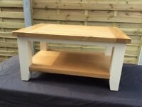Lovely Oak / Painted Coffee Table, .