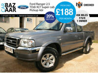Ford Ranger 2.5TDdi Super Cab XLT+ONLY 45K MILES+F/S/H+1 OWNER+NO VAT
