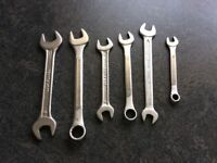 Spanners, range of sizes, 6 in total