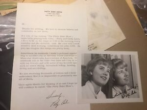 Autographed picture and letter from Patty Duke 1966