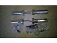 Heavy duty Olympic dumbbell bars with new collars