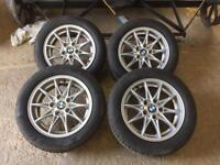 "Bmw 16"" wheels, almost new tyres"