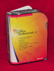 Genuine Microsoft Office 2007 Professional (in original MS case)