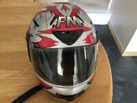 FM MOTORCYCLE HELMET EXTRA SMALL