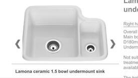 Lomona Ceramic 1.5 under mount sink