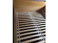 Ikea Malm oak veneer king size bed frame