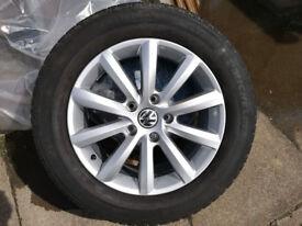 2011+VW Touareg Winter Alloy Wheel Set. Info on wheels see photos
