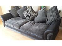 Dfs 4 Seater Sofa, Chair and footstool