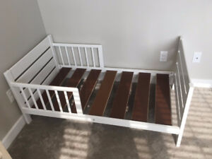 Adorable White Toddler Bed
