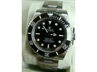 Beautiful Rolex Submariner NO DATE Black Face + Box, Papers