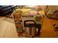 SALTER DIGITAL SOUP MAKER---ALL BOXED---NEAR NEW